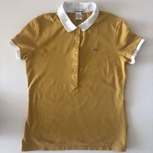 Lacoste Mustard And White Polo Shirt size 40/8